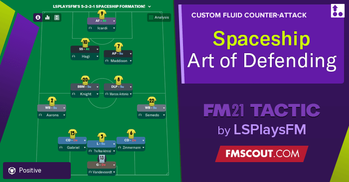 Football Manager 2021 Tactics - 5-2-2-1 Spaceship / The Art Of Defending by LSPlaysFM