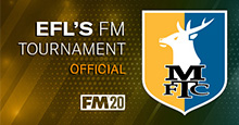 Jamie as Stags' boss in EFL's Football Manager Tournament
