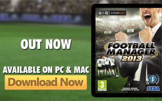 Football Manager 2013 Now Released