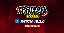 Football Manager 2016 Patch 16.2.0