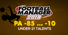Football Manager 2018 PA -85 -9 -95 -10 Talents