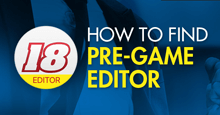 How to find & download the official FM18 Pre-Game Editor
