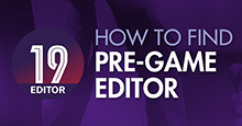How to find & download the official FM19 Pre-Game Editor