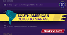 FM20 South American Clubs to Manage