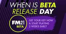 When is FM21 Beta Release Day