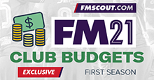 Football Manager 2021 Starting Transfer & Wage Budgets