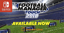 Football Manager Touch debuts on Nintendo Switch