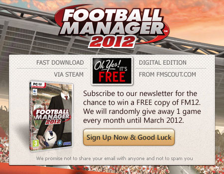 Win Football Manager 2012 for FREE!