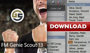 FM Genie Scout 13 for Football Manager 2013 - Free Download