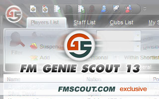 FM Genie Scout for FM13 is confirmed