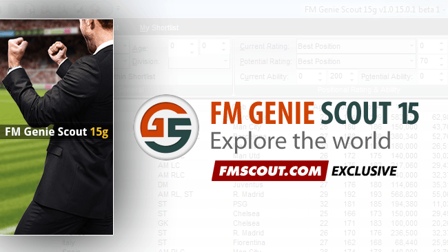 FM Genie Scout for FM15 is confirmed