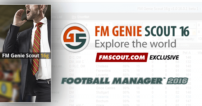 News - FM Genie Scout for FM16 is confirmed