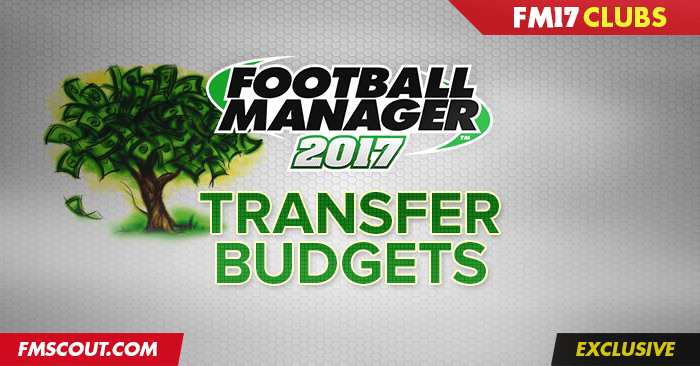 Club Insights - Football Manager 2017 Starting Transfer Budgets