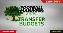 Football Manager 2017 Starting Transfer Budgets