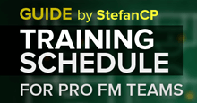 Training schedule for professional Football Manager teams