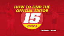 How to find the official FM15 Editor