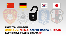 How to unlock Germany national team on FM15