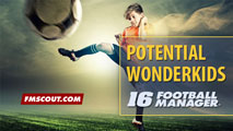 Potential FM 2016 Wonderkids - Rising U19 Football Talents 2015
