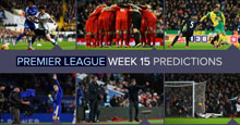 Premier League Week 15 Predictions