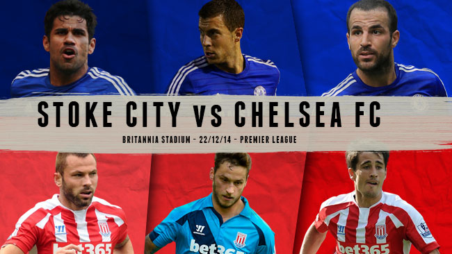 Can table toppers Chelsea do it on a wet, windy night in Stoke?