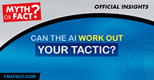 Can the Football Manager AI figure out your tactic?