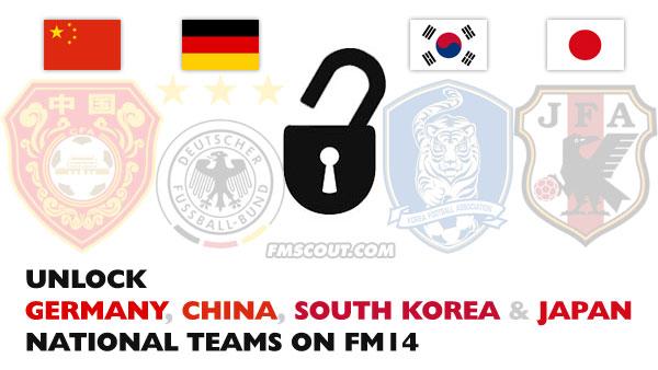 Unlock Germany China South Korea And Japan National Teams In