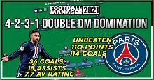 LSPlaysFM's 4-2-3-1 Double DM Domination Tactic - 110 Point Unbeaten Season