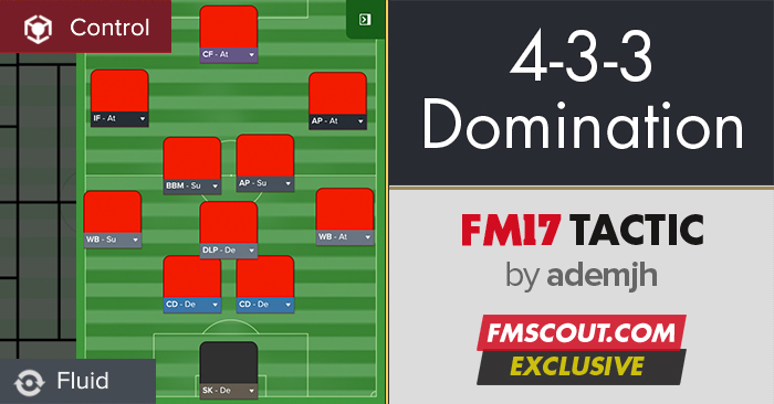 Football Manager 2017 Tactics - 4-3-3 Possession Domination