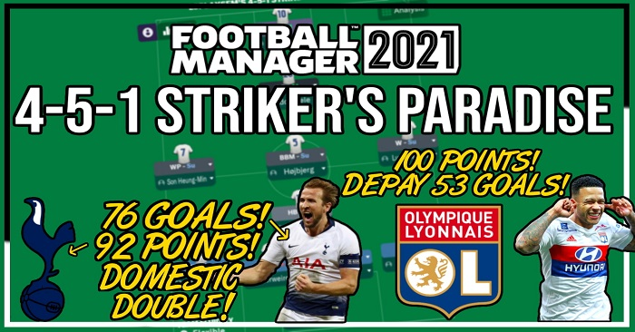 Football Manager 2021 Tactics - LSPlaysFM's 4-5-1 Striker's Paradise – Kane 76 Goal Season & 86% Win Rate!