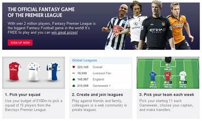 users fantasy premier league