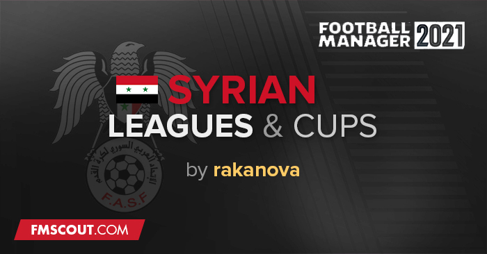 Football Manager 2021 Database - Syrian Leagues & Cups for FM 21