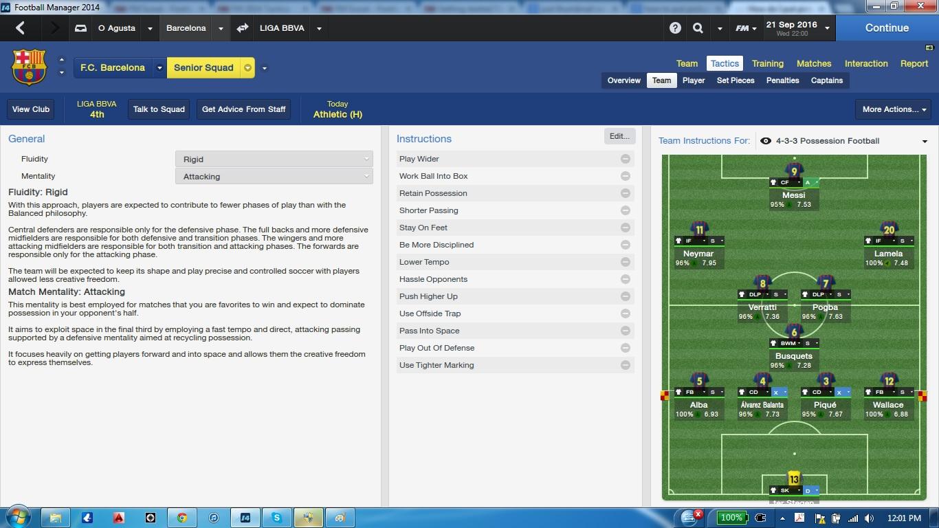 Opagusta 4 3 3 Possession Football Fm Scout