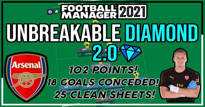 Football Manager 2021 Tactics - LSPlaysFM's 4-1-2-1-2 Unbreakable Diamond 2.0 - Unbeaten Prem Season & 87% Win Rate