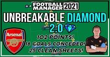 LSPlaysFM's 4-1-2-1-2 Unbreakable Diamond 2.0 - Unbeaten Prem Season & 87% Win Rate
