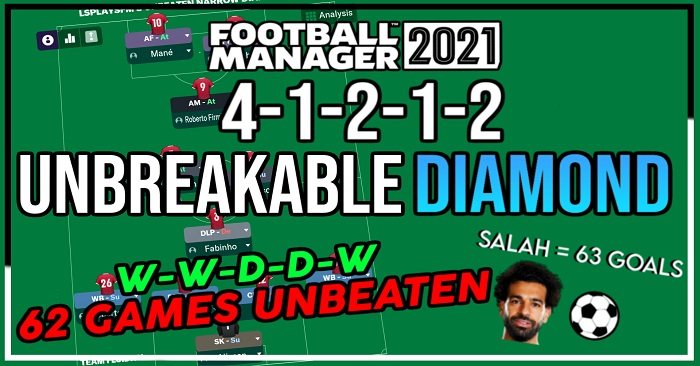 Football Manager 2021 Tactics - LSPlaysFM's Unbreakable Diamond - 105 Pts, 3.00 GPG, Unbeaten Seasons & More!